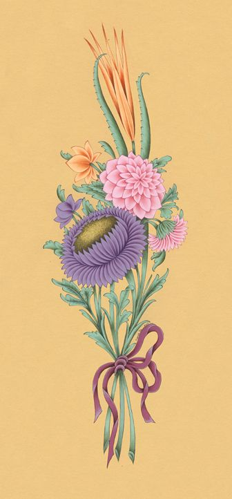 Şukufe Deseni Genellikle renk geçişleri yapılarak kullanılır.   Güller, laleler ve sümbüller içeren bu desen demet halinde ve ya bir vazo i...