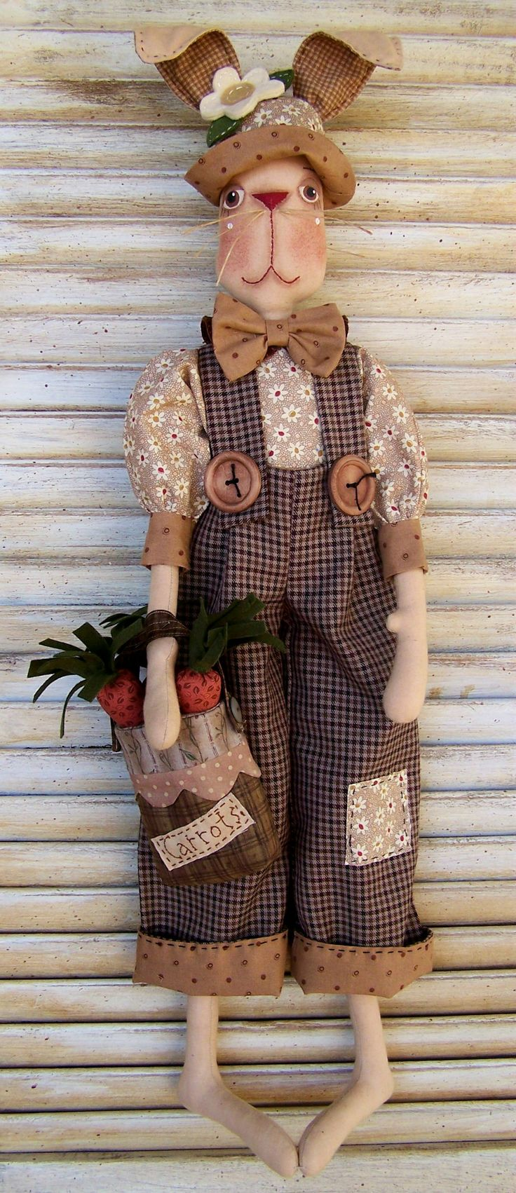 Crawford pattern by Annie Smith, Country Keepsake Dolls. Love how they have dressed this cute rabbit!!