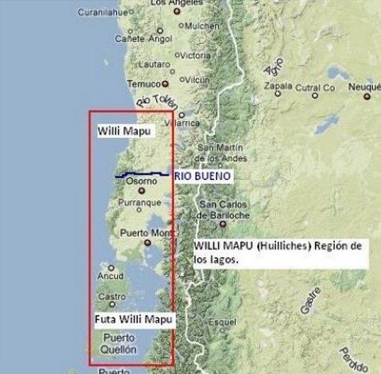 """Huilliche quiere decir """"gente del sur"""", pues se ubican al sur del grupo mapuche más numeroso, que habita en la región de La Araucanía. El área que históricamente se ha reconocido como territorio Mapuche-Huilliche, está ubicado desde Valdivia al sur. Actualmente se emplea genéricamente la denominación Mapuche-Huilliche para identificar a las comunidades ubicadas principalmente en la X Región, además de algunas comunidades emplazadas en la Isla Grande de Chiloé."""