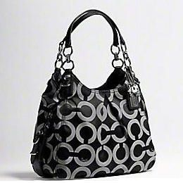 Black Coach Purse With Chain Handle