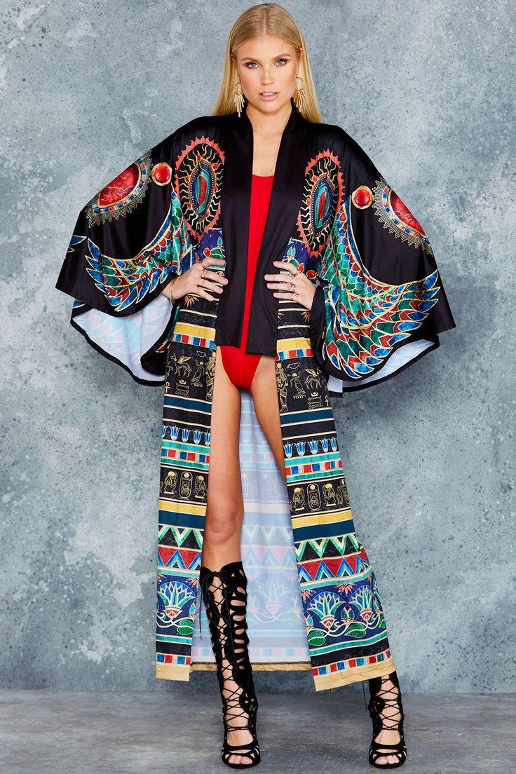 Walk Like An Egyptian Swan Kimono - PRESALE ($160AUD) by BlackMilk Clothing