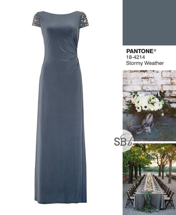 Pantone Fall 2015 Bridesmaid Dress Inspiration: Stormy Weather | SouthBound Bride | http://www.southboundbride.com/pantone-fall-2015-bridesmaid-dress-inspiration | Image credits: Adam Barnes // Bryce Covey