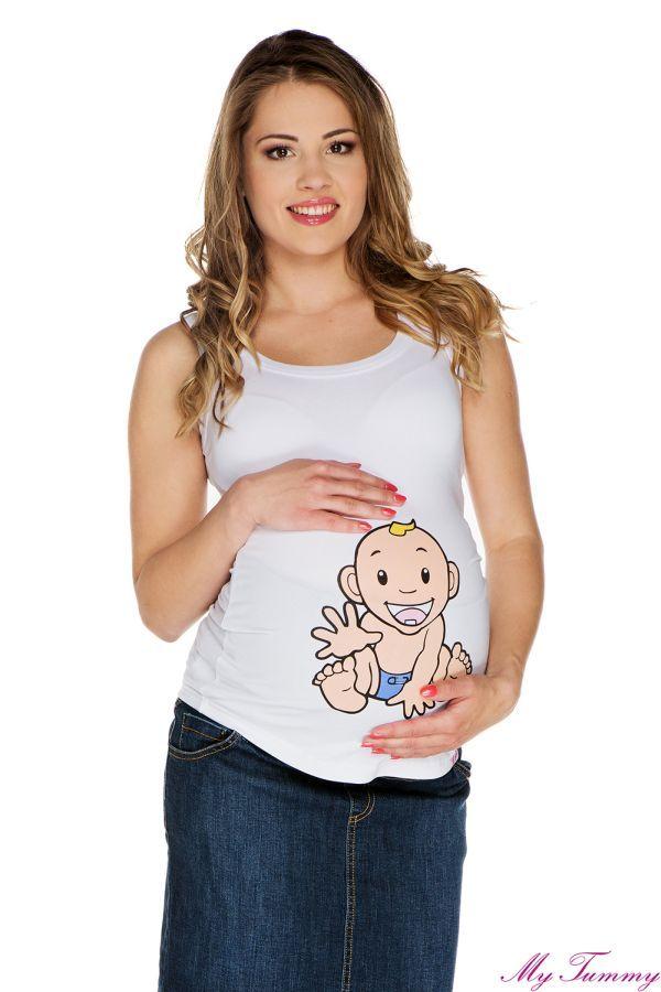 Koszulka ciążowa na ramiączkach Chłopiec II
