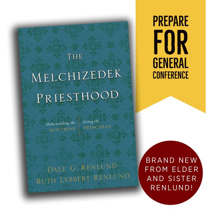 The Melchizedek Priesthood : Understanding the Doctrine, Living the Principles - This insightful book by Elder Dale G. and Sister Ruth Lybbert Renlund helps men better understand the principles and doctrine of the Melchizedek Priesthood and learn how to properly exercise it in their daily lives. Section One presents the foundations of the priesthood, explaining basics about what it is, what it is for, and the commandments that govern its use.