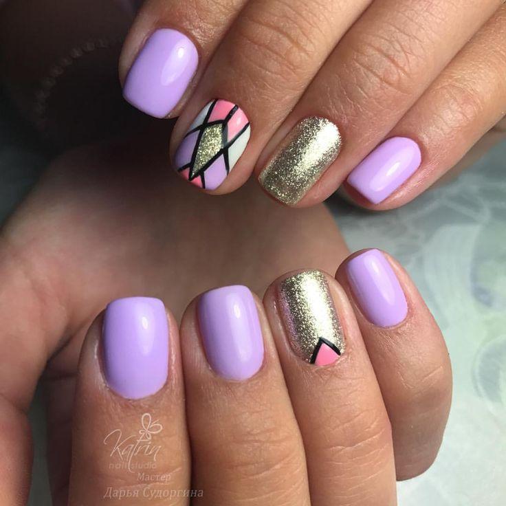 54 отметок «Нравится», 1 комментариев — Студия ногтевой эстетики. 💅🏻👣 (@katrin_nail_studio) в Instagram: «💅🏻😍Работа нашего мастера Дарьи #аппаратныйманикюр #гельлак #гельлакспб #дизайнногтей #ногти…»