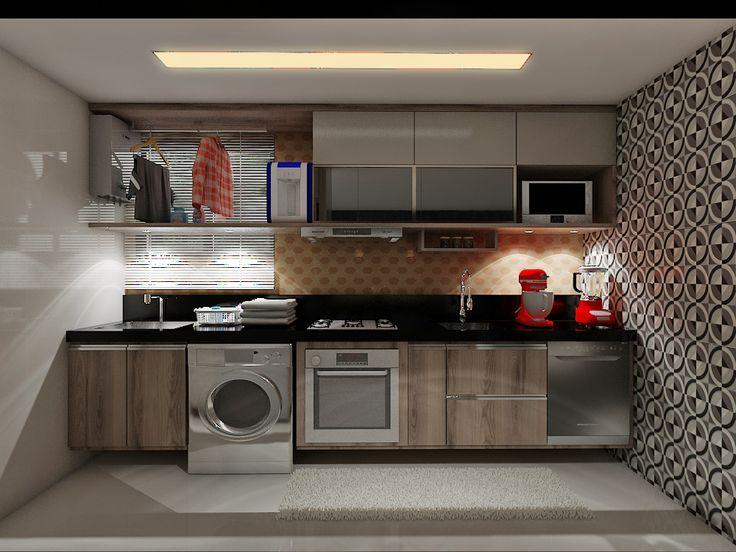 Um projeto que procura valorizar os componentes principais da cozinha.