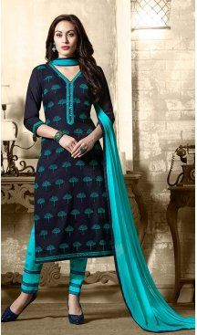 Navy Blue Color Cotton Embroidery Casual Salwar Kameez | FH582385876 Follow us @heenastyle #casualwaer #designersuits #salwarkameez #anarkalis #indiandesigner #desifashion #bollywoodstyle #salwar #chudidar #indianfashion #traditional #beauty #desicouture #pakistani #pakistaniwedding #pakistanibride #southindian #couture #cottonsalwarkameez #embroiderysalwarkameez #straightcutsalwarkameez #churidarkameez #churidarsuits #churidardresses #casualsalwarkameez #casualdresses #casualsuits…