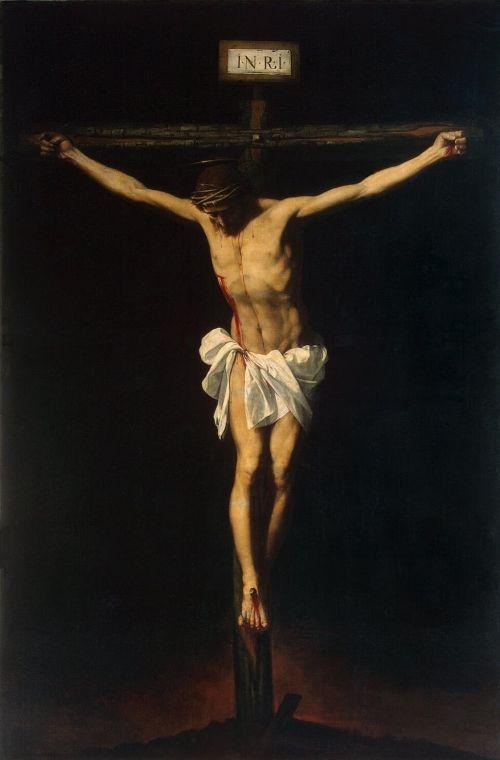 Francisco de Zurbarán, Crucifixion, 1650, Oil on canvas The Hermitage, St. Petersburg.