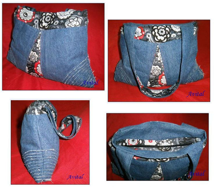 Bolso de jeans con flores y textura Con paso a paso reciclando tela de un  pantalón de jeans y el armado del bolso Jeans bag with flowers and textu\u2026
