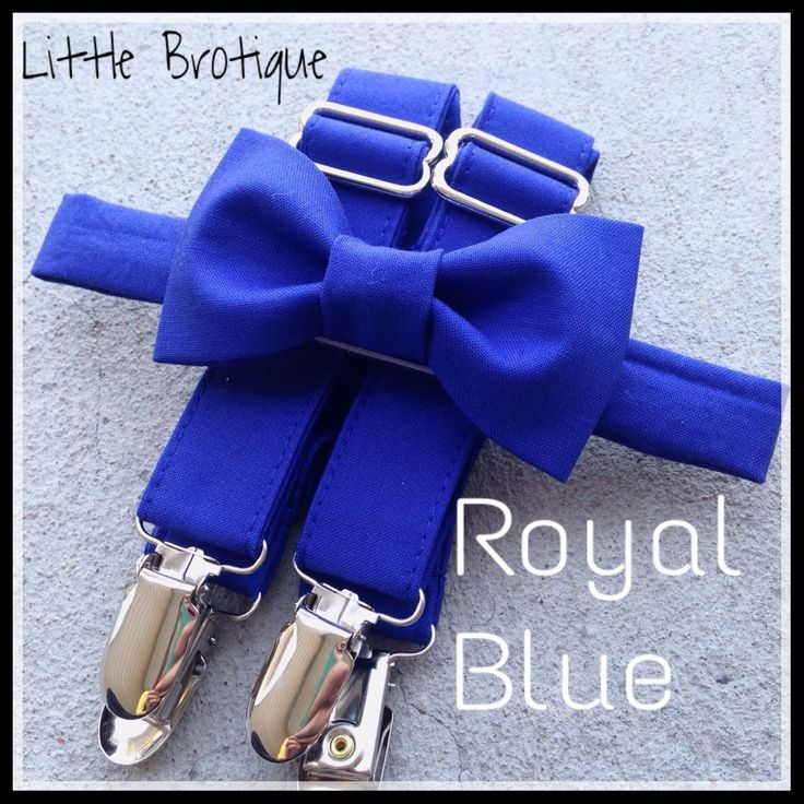 Royal Blue Bow Tie and Suspender Set for babies, toddlers, boys, and men. by LittleBrotique on Etsy https://www.etsy.com/listing/238869472/royal-blue-bow-tie-and-suspender-set-for