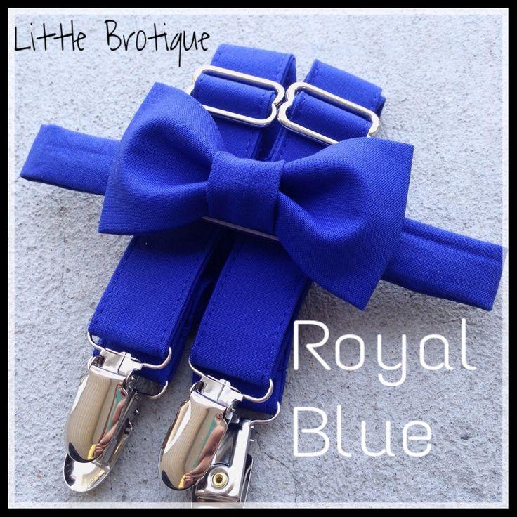Tirantes y corbata en azul rey.