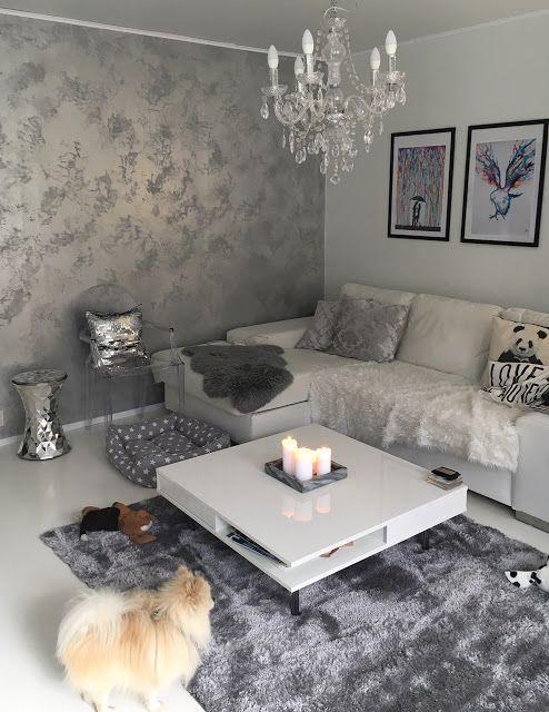 Hopeinen olohuone