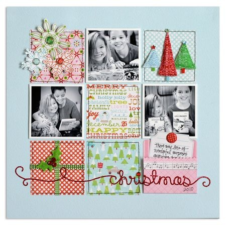 love love love this layout--AND I MUST HAVE THOSE RED CHRISTMAS SCRIBBLES!!!