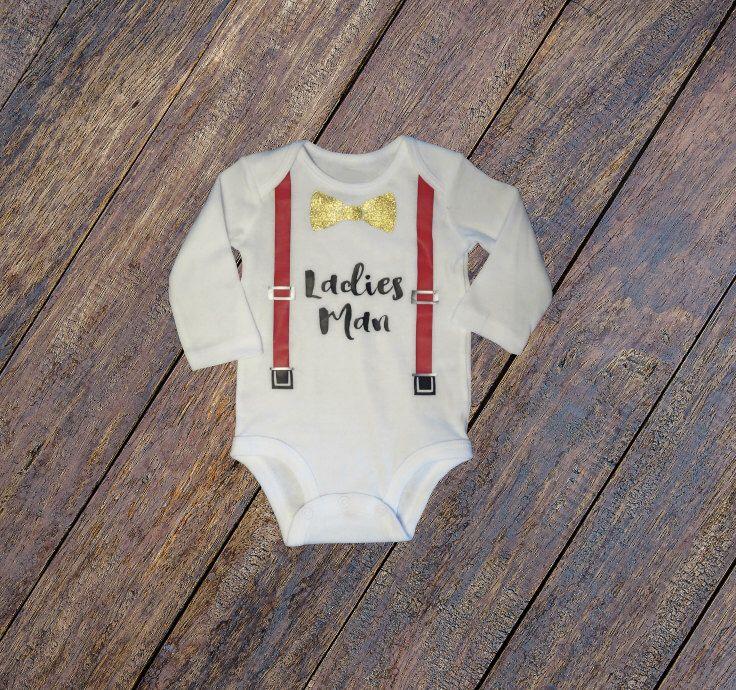 items similar to ladies man infant bodysuit valentines day valentine day baby shirt bow tie suspenders boy on etsy - Valentines Day Shirts Ladies