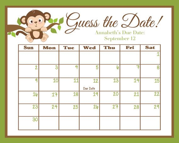 Calendar Shower Ideas : Best baby shower monkey ideas on pinterest