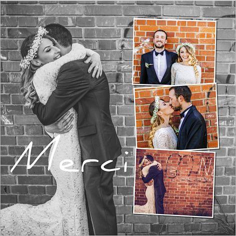 Carte de remerciements de mariage : Vignettes à personnaliser sur http://www.popcarte.com/cartes-flash/carte-invitation/remerciements-mariage-vignettes.html