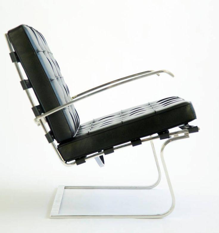 Mies Van Der Rohe; Stainless Steel And Leather U0027Tugendhatu0027 Armchair By  Knoll International · Möbel StühleModerne ...
