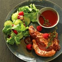 Pork Chops with Tangy Raspberry Sauce | Recipe