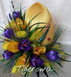 #satin #satinribbon #satinribbons #beautiful #beautifull #beauti #kwiaty #flower #flowers #rękodzieło #ozdoba #dekoracjadomu #stroik #diy #hobby #hobbys #art #artist #handmade #eggs #egg #jajko #jajo