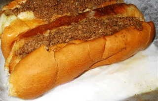 CONEY DOG SAUCE ~ 1 1/4 lbs hamburger, 1/2 cup sugar, 1/2 cup chili powder, 1/2 cup ketchup, 1 1/2 cup water.... DIRECTIONS: Brown the hamburger and then add the rest of the ingredients into the skillet and simmer for one hour. Stir occasionally. Serve on hot dogs. This can also be frozen until needed.