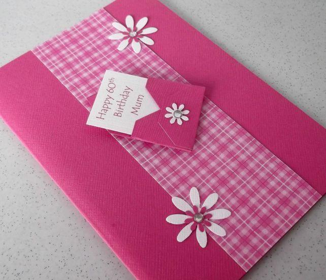 Handmade 60th birthday card mum 400 paper daisy 2 handmade handmade 60th birthday card mum 400 paper daisy 2 handmade designer cards pinterest birthdays cards and envelopes bookmarktalkfo Image collections