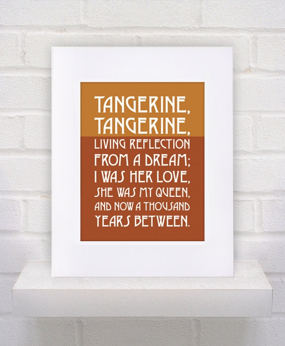 Tangerine Lyrics, Our first dance at our wedding <3