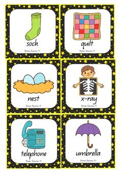 Is your class learning to sequence letters of the alphabet? With this game, players draw three cards from the pile and use their sequencing mat to place the cards in alphabetical order. The alphabet sequence at the bottom of the mat can be used as a prompt.