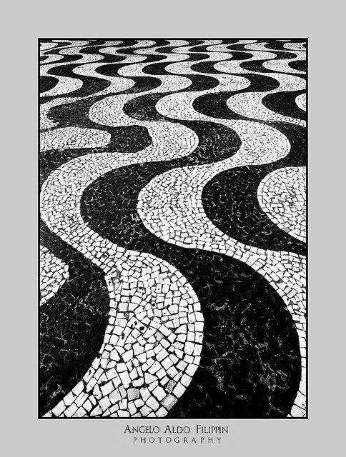 Photography of Rio de Janeiro Copacabana sidewalk