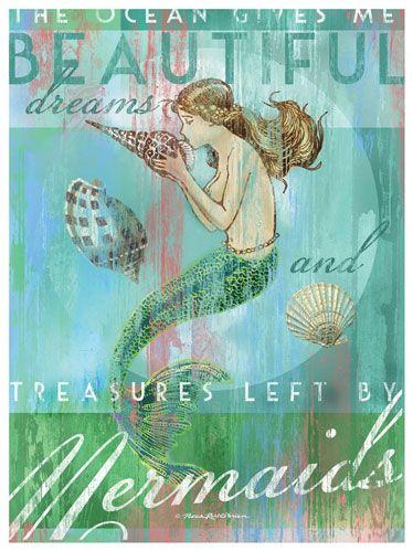 The Ocean gives me Beautiful dream and Treasures left by Mermaids - Art Print