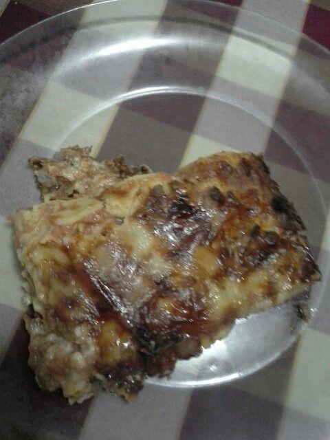 Lasagne senza glutine...ma tante calorie. I miei esperimenti continuano.