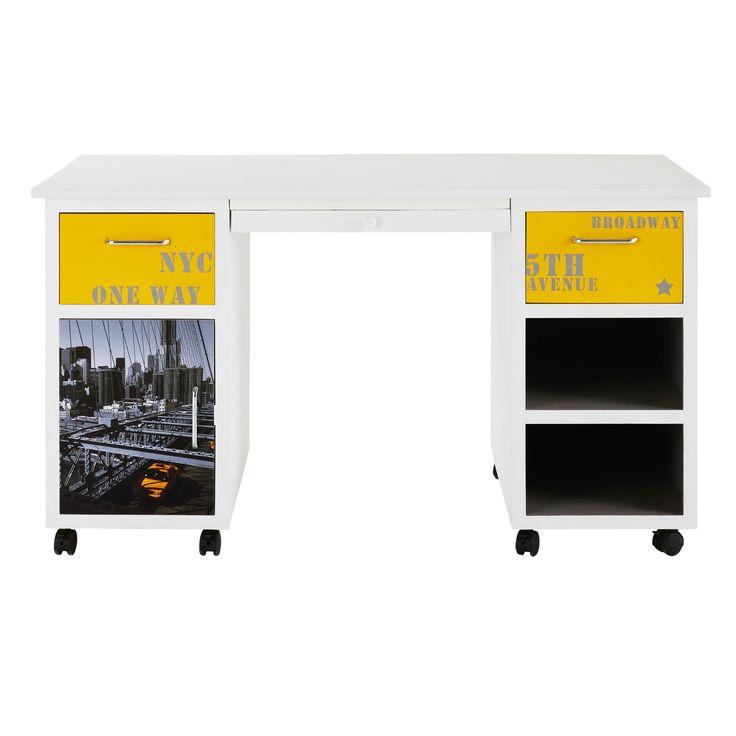 Schreibtisch Mit Tür Und 2 Schubladen, Gemustert Jetzt Bestellen Unter: ...