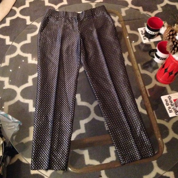 J Crew Trousers These trousers are super stylish and professional. The print is really cute! J. Crew Pants Trousers