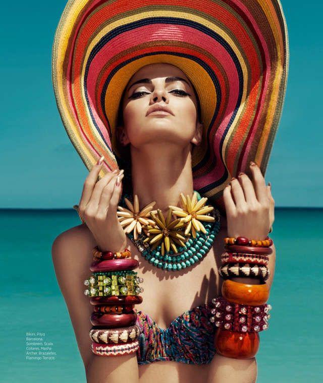 Energetic Beach Editorials : Harper's Bazaar Mexico July 2013