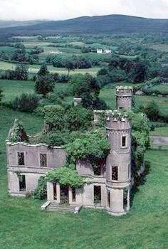 Castillo Forgotten en Escocia.