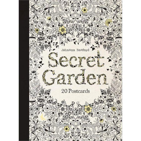 Secret Garden Book Of Post Cards Pack 20 By Johanna Basford