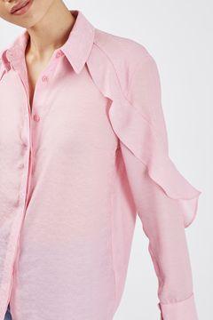 Ruffle Jacquard Shirt by Boutique