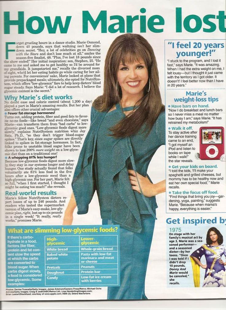 Marie Osmond Diet in Woman's World Magazine - Scan of ...