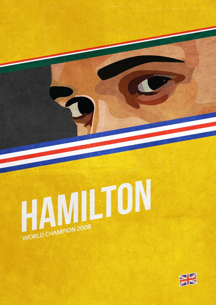 'Hamilton' poster from the Grand Prix Champions series #F1