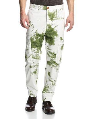 73% OFF Vivienne Westwood Men's Curved Leg Pants (White/Green)