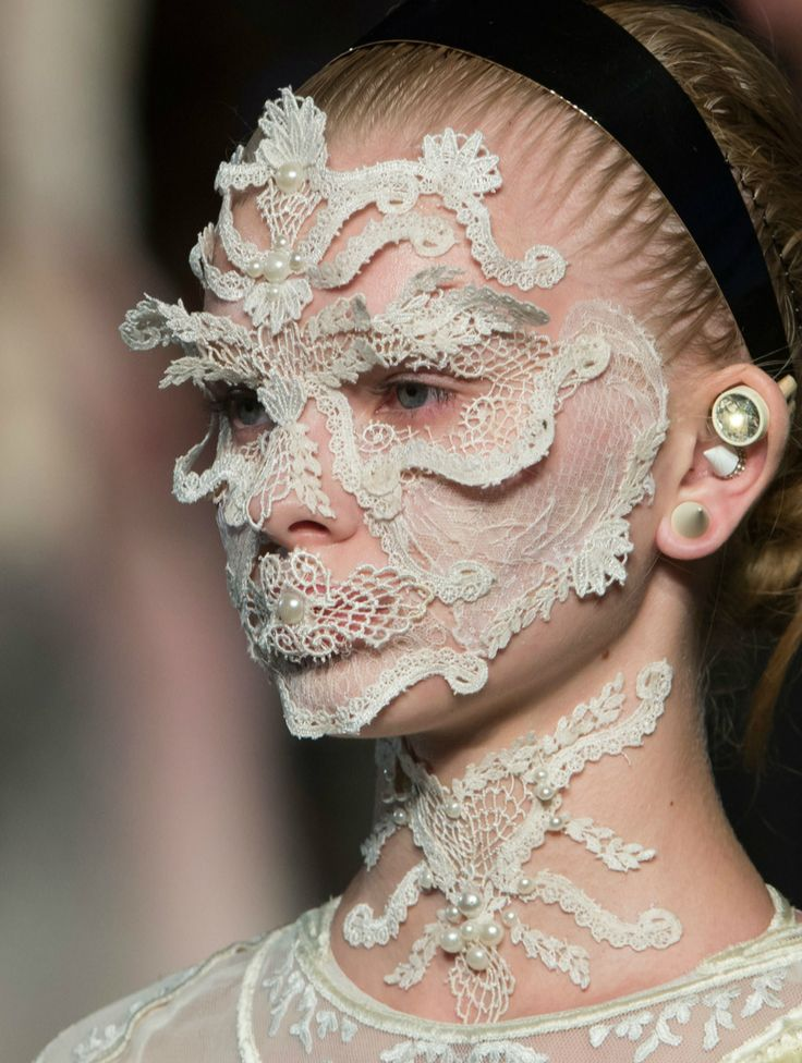 What if you need to scratch your forehead? Givenchy Spring 2016 Details