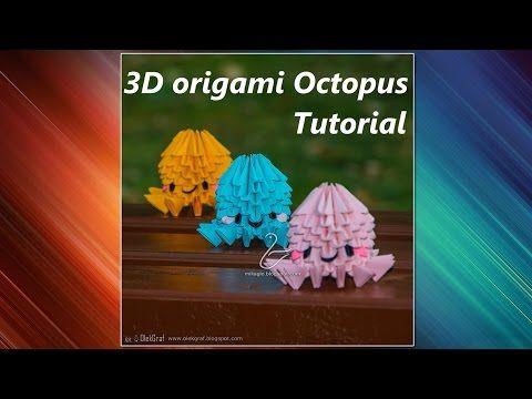 3D origami Octopus - Tutorial - YouTube