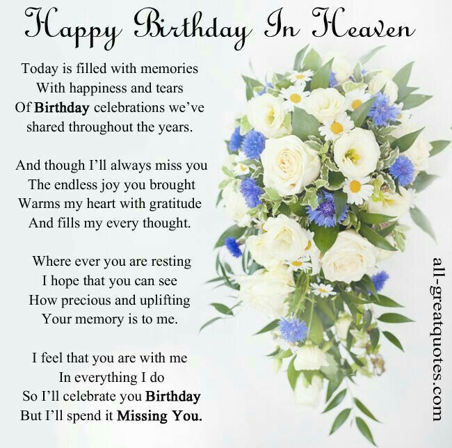 Miss U Quote For Him: Happy Birthday In Heaven