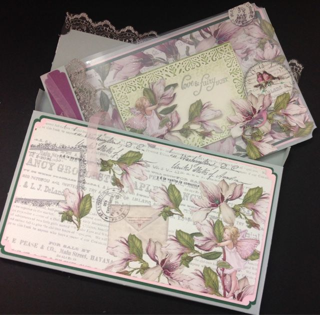 James's crafty hideaway : Flower fairies card and matching box...