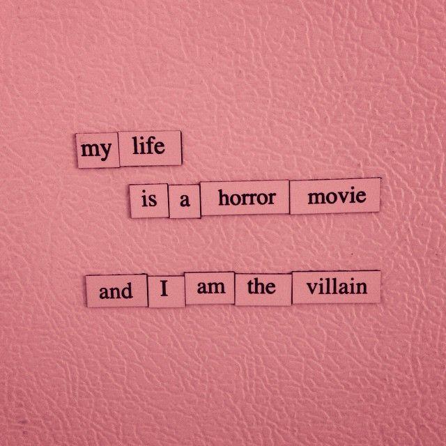 Моя жизнь - это фильм ужасов, и я в нём главный злодей