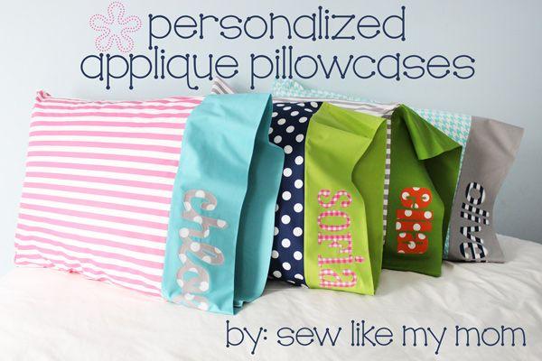 Project Design Team Wednesday ~ Personalized Appliqué Pillowcases | Site Blog Articles | Bloglovin'