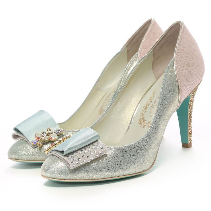 ソフィアコレクション Sophia collection スワロフスキー仕様パンプス 090S08530(ライトグリーンコンビ) -靴&ファッション通販 ロコンド〜自宅で試着、気軽に返品
