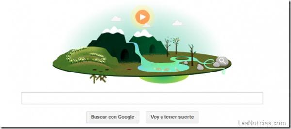 """El Doodle de hoy: """"Día Mundial de la Tierra"""" ¡Felicidades Pachamama! - http://www.leanoticias.com/2013/04/22/el-doodle-de-hoy-dia-mundial-de-la-tierra-felicidades-pachamama/"""