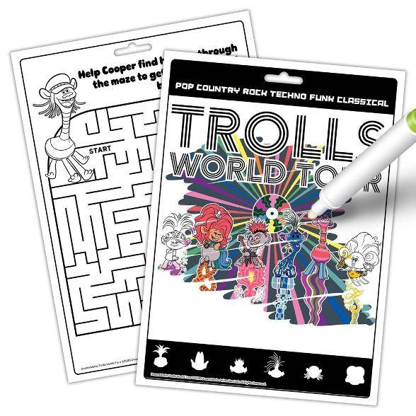 Trolls World Tour Imagine Ink Book Coloring Books Magic Revealed Ink