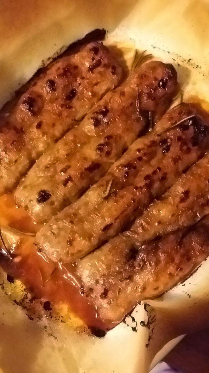 Le Ricette di Valentina: Salsicce di pollo e tacchino glassate alla salsa barbecue