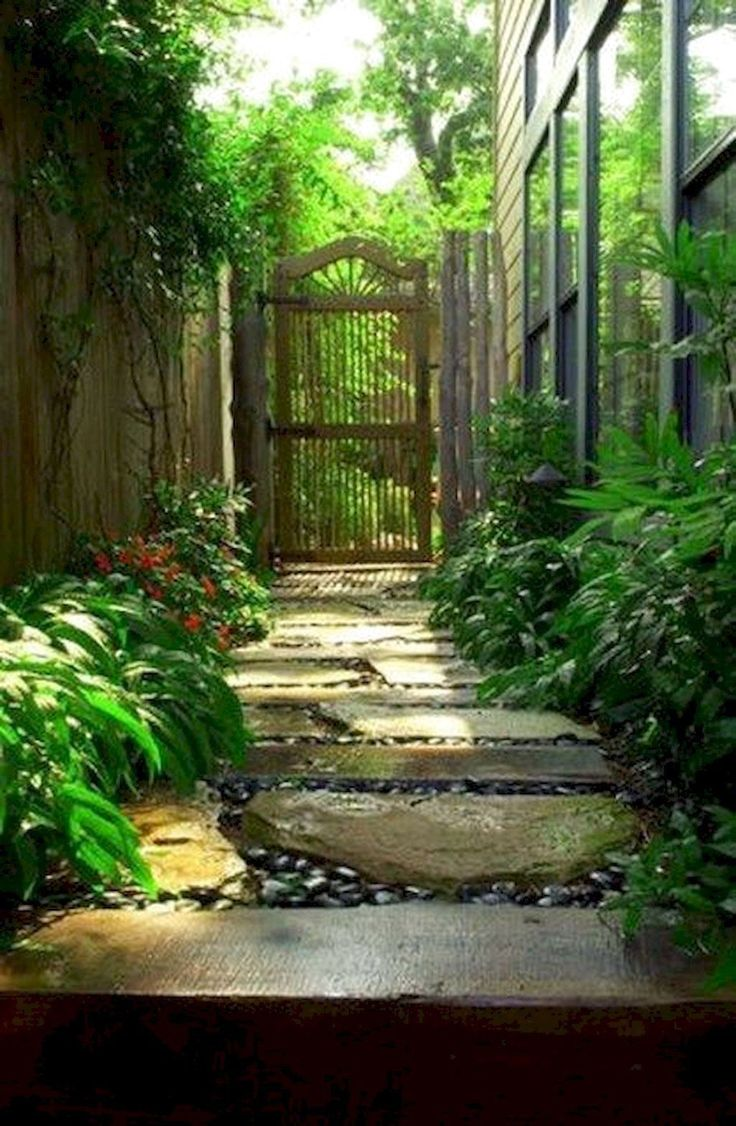 40 INSANELY SIDE YARD GARDEN DESIGN IDEAS AND REMODEL ... on Narrow Yard Ideas id=33577